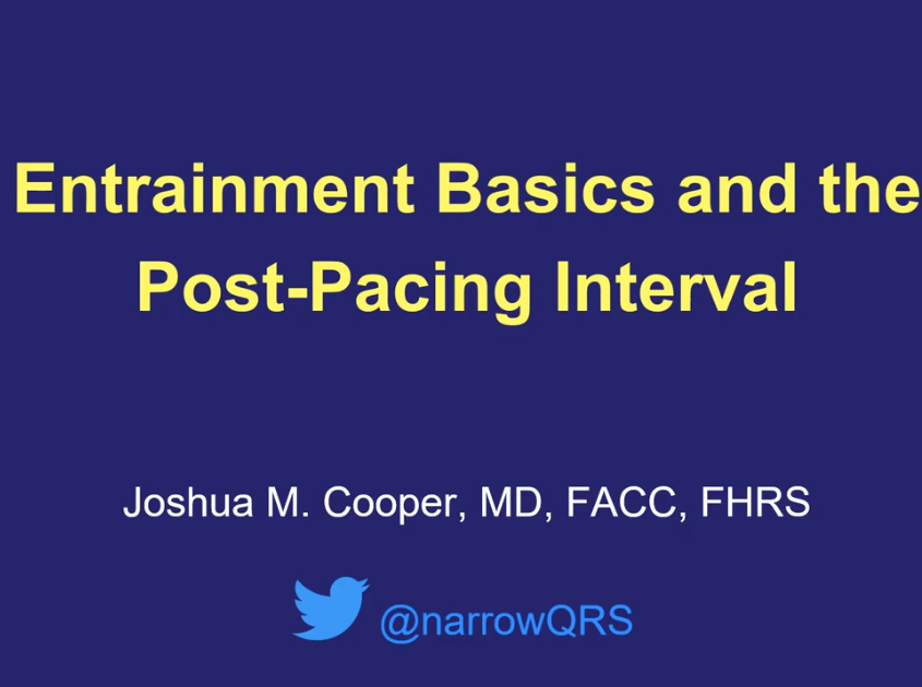 Entrainment Mapping: The Post-Pacing Interval