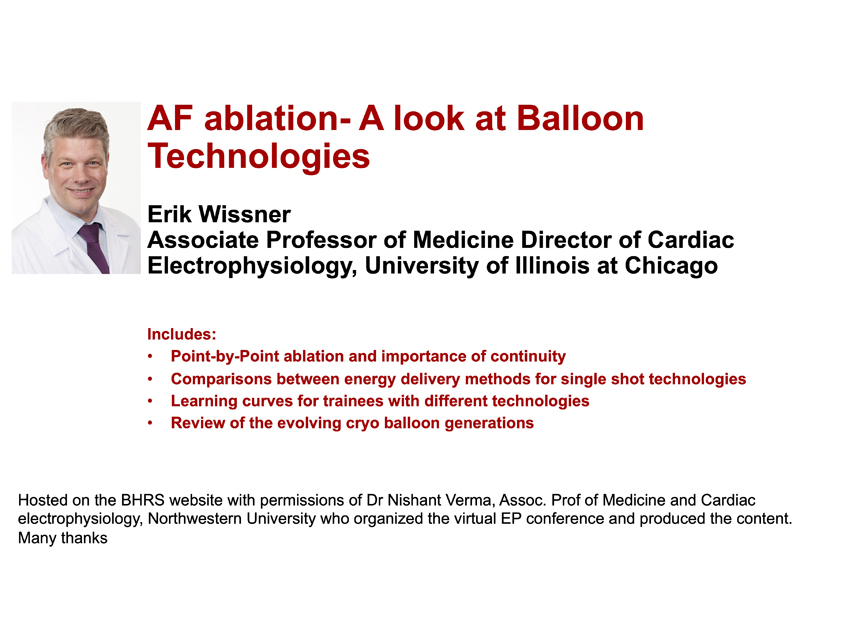 AF Ablation- A look at Balloon Technologies
