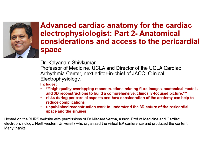 Part 2: Advanced cardiac anatomy for the cardiac electrophysiologist