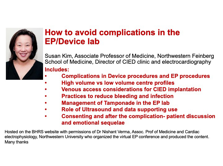How to avoid complications in the EP lab