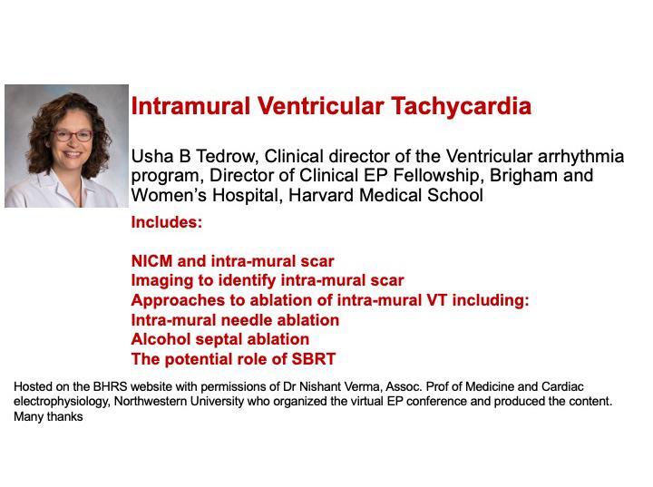 Intramural Ventricular Tachycardia