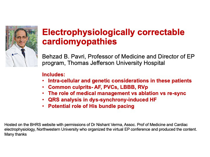 Electrophysiologically correctable cardiomyopathies