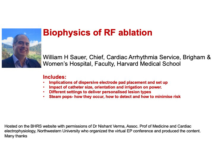 Biophysics of radio-frequency ablation