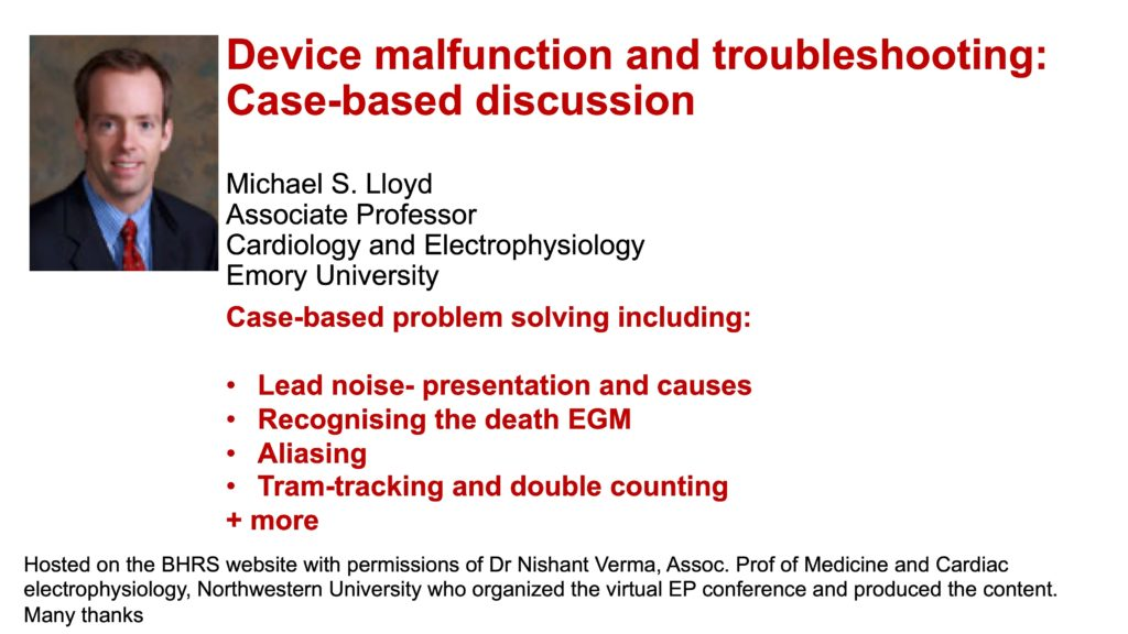 Device malfunction and troubleshooting: Case-based discussion