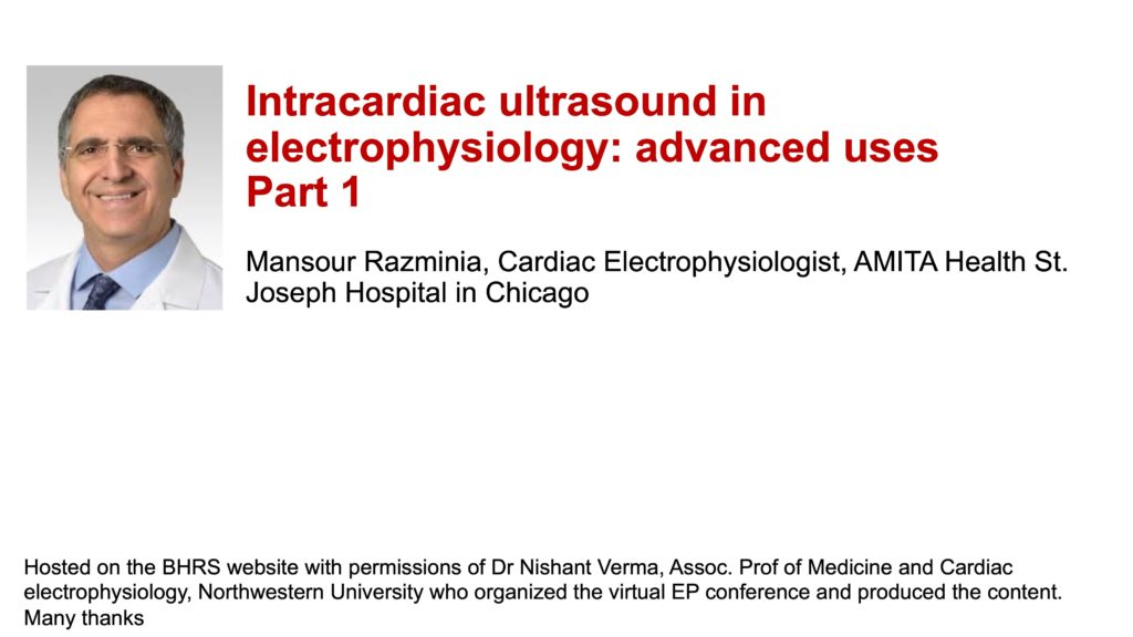 Intracardiac ultrasound in electrophysiology: advanced uses: Part 1
