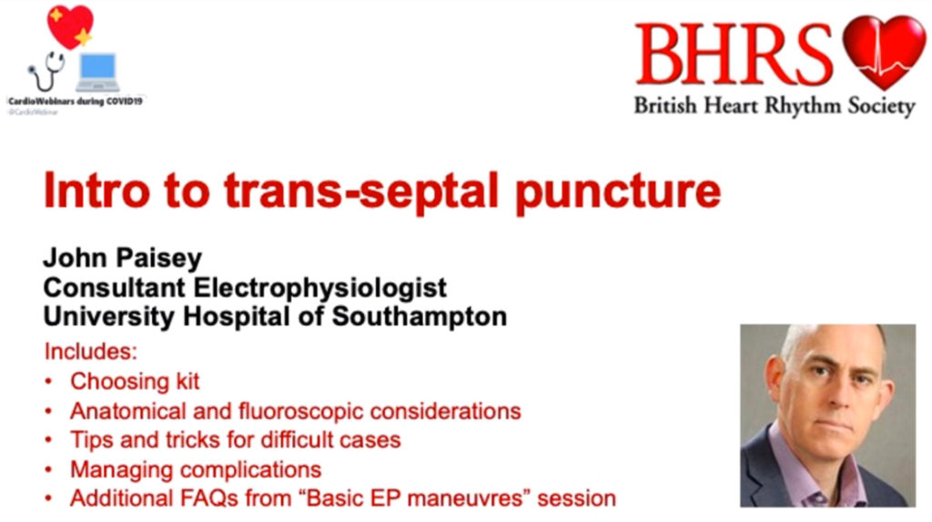 Approach & Considerations for the Trans-septal Puncture